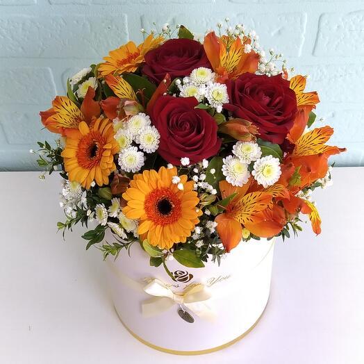 Цветы в коробке -Моей звёздочке