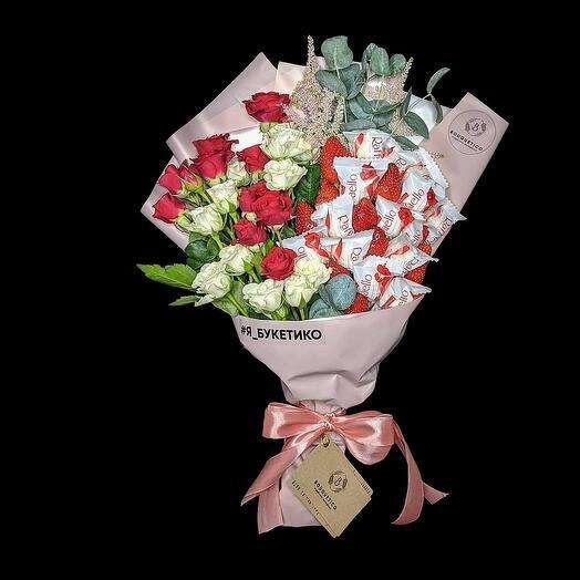 Букет из конфет и цветов