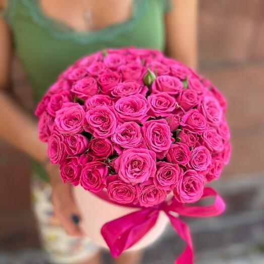 Кустовая Роза в коробочке