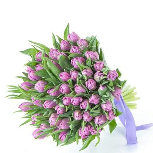 Сиреневые Пионовидные тюльпаны
