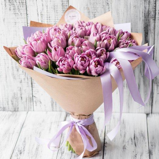 Букет тюльпанов Дабл Прайс 0914: букеты цветов на заказ Flowwow