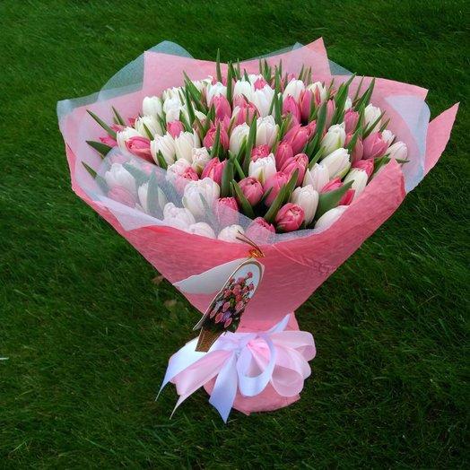 Букет из тульпана: букеты цветов на заказ Flowwow