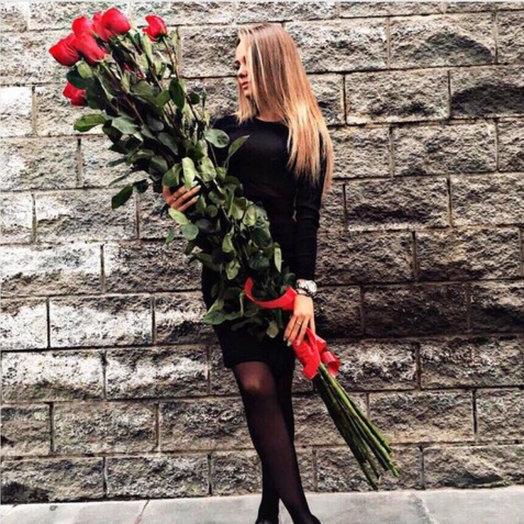 Розы-гиганты 180 см: букеты цветов на заказ Flowwow