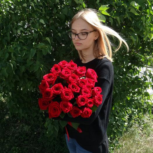 25 красных роз 50 см: букеты цветов на заказ Flowwow