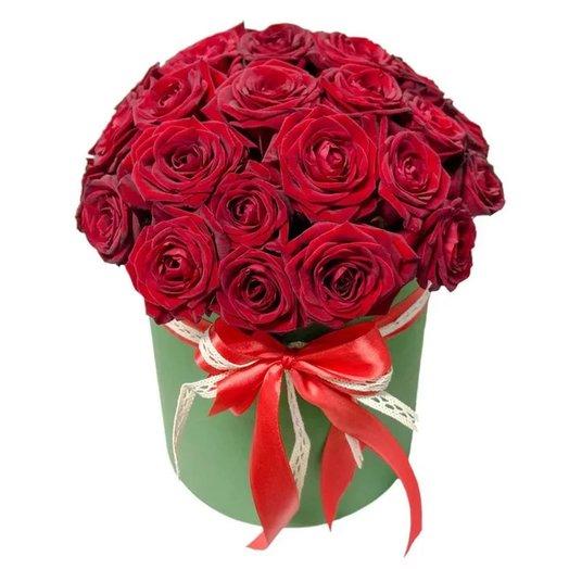 """Коробка """"Любовь"""" из 27 красных роз"""