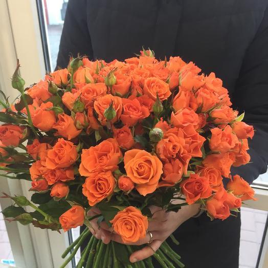 Букет роз «Огненный шар»