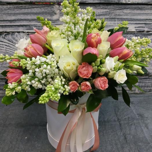 Королевская коробка с цветами: букеты цветов на заказ Flowwow