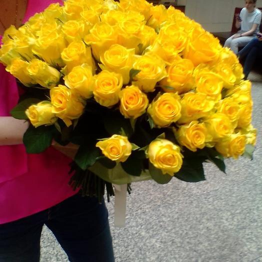 Жёлтая роза: букеты цветов на заказ Flowwow