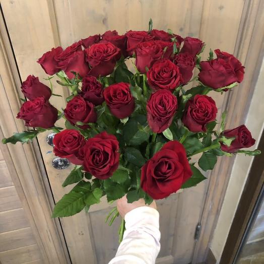 """Букет роз для девушки """"25 кенийских розочек"""""""