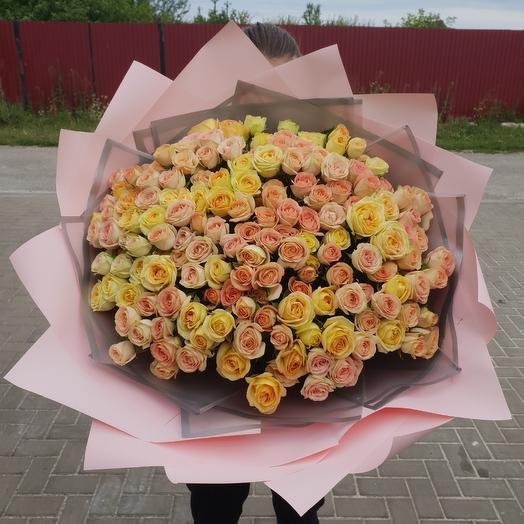 51 кустовая пионовидная роза: букеты цветов на заказ Flowwow