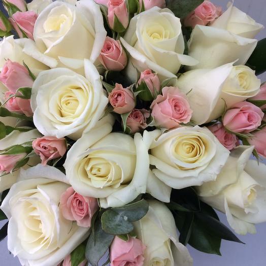 Нежный свадебный букет для невесты