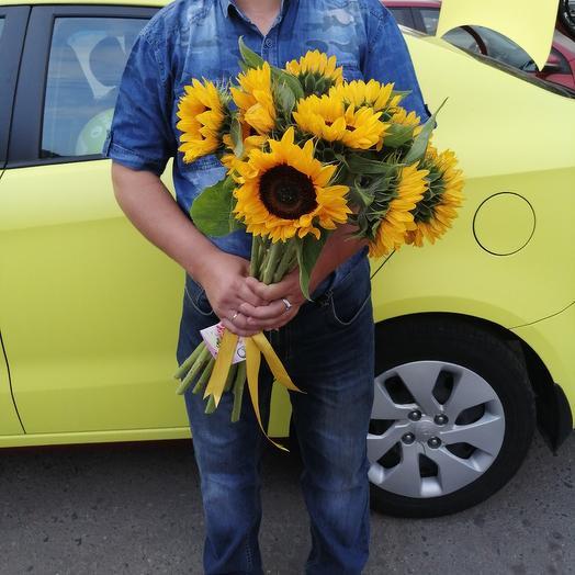 """Букет """"9 Подсолнухов"""": букеты цветов на заказ Flowwow"""