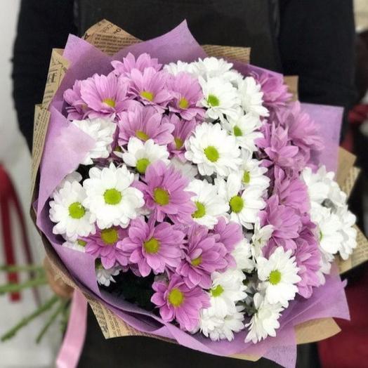 Бело-сиреневый МИКС: букеты цветов на заказ Flowwow
