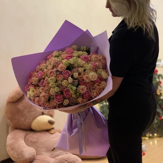 Роскошный букет Purpur: букеты цветов на заказ Flowwow
