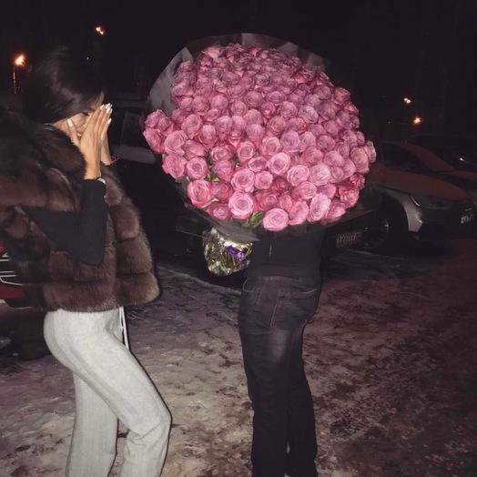 71 Голландская роза эксклюзивного оттенка: букеты цветов на заказ Flowwow