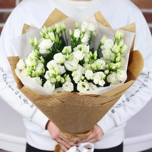 Букет из 15 белых эустом. N702: букеты цветов на заказ Flowwow