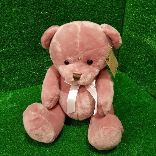 Темно- розовый мишка: букеты цветов на заказ Flowwow