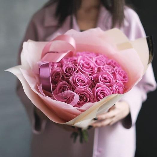 Роза 19 шт Аква: букеты цветов на заказ Flowwow