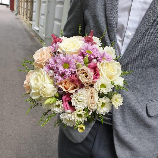 Букет невесты перламутровая Жемчужина