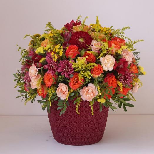 Композиция цветов Luxury Flowers Яркие эмоции
