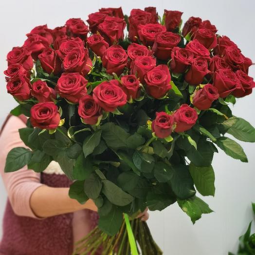 51 Роза Россия 70см