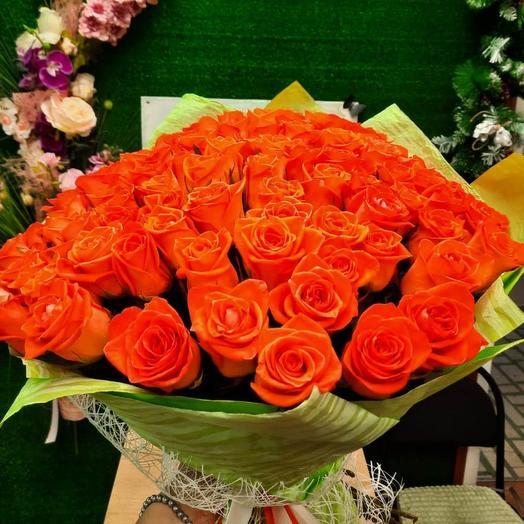 101 коралловая роза в матовой пленке