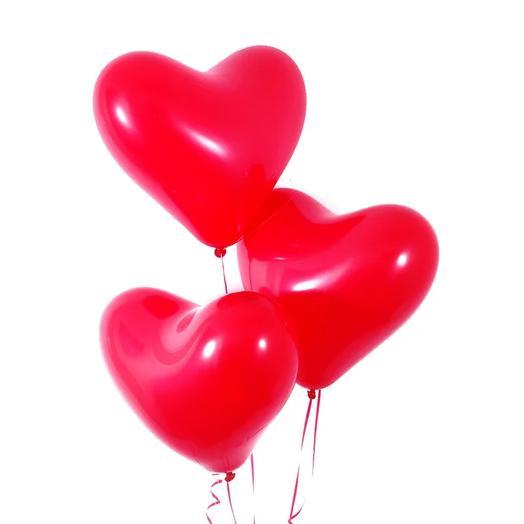 3 гелиевых шара сердце