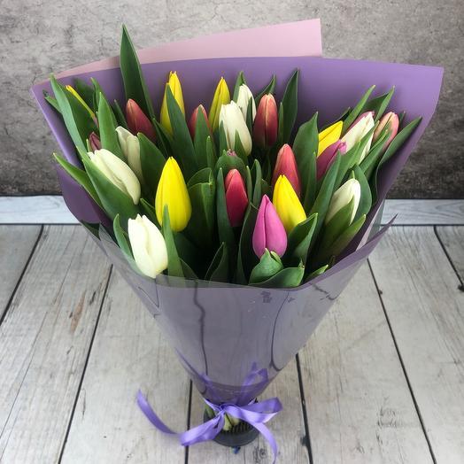 """Тюльпаны 25 шт""""Конфетти"""""""