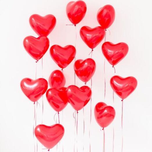Шар Гелиевый «Сердце» 12 дюймов