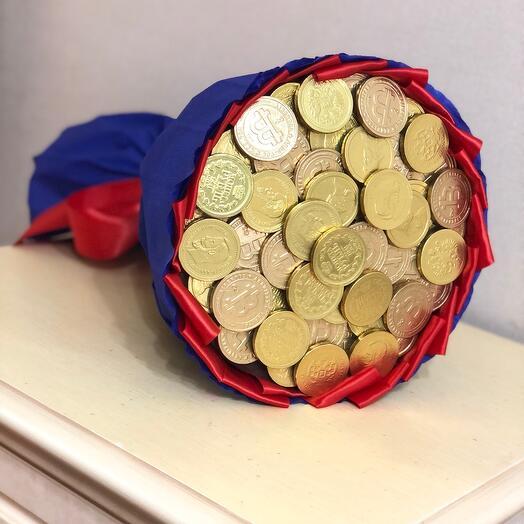 Букет из монет