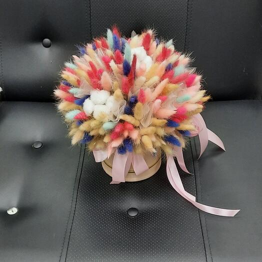 Коробочка из сухоцветов
