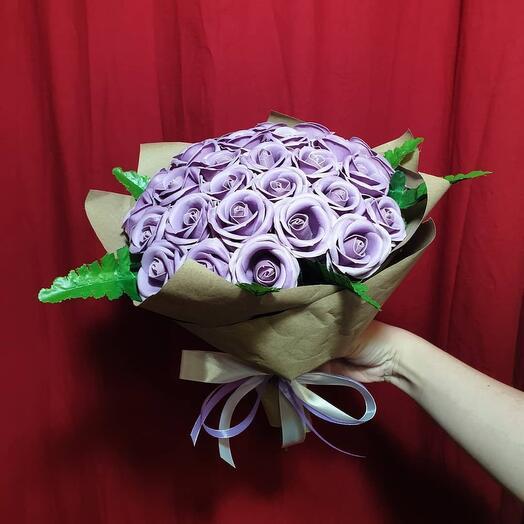 Букет из 31 мыльной розы