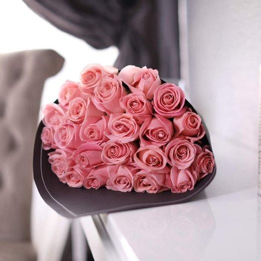 Букет из 25 роз Hermosa: букеты цветов на заказ Flowwow