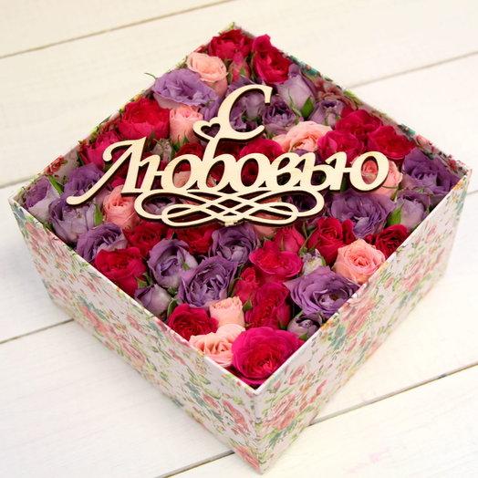 Коробочка с розами для любимой: букеты цветов на заказ Flowwow