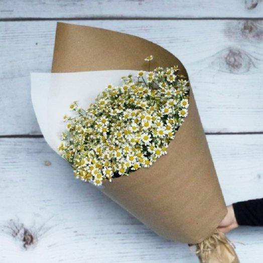 Букет из 25 матрикарий: букеты цветов на заказ Flowwow