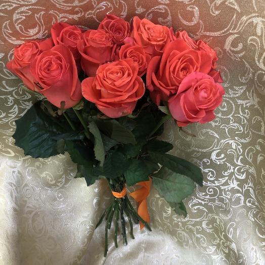 Розы Вау (13шт.50см): букеты цветов на заказ Flowwow