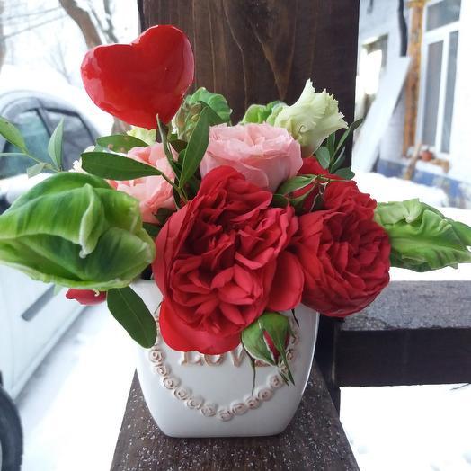 """Композиция """"Святой Валентинчик"""": букеты цветов на заказ Flowwow"""