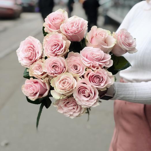 Роза Пинк Мондиаль премиум 15: букеты цветов на заказ Flowwow