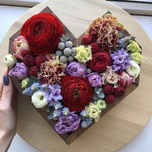 Bog heart: букеты цветов на заказ Flowwow