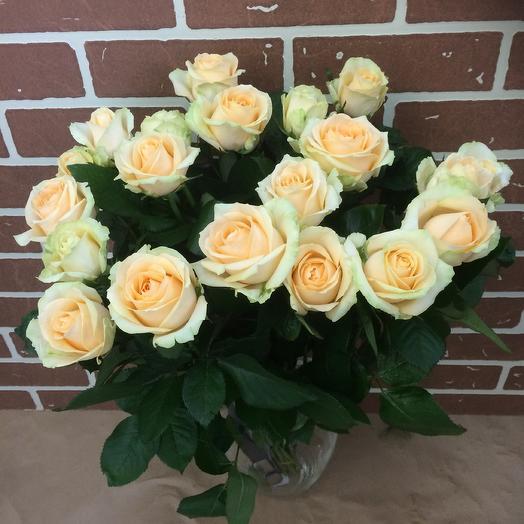 Розы Аваланж: букеты цветов на заказ Flowwow