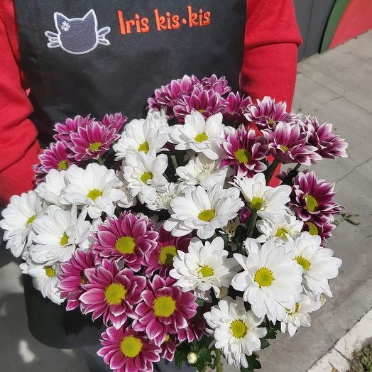 Хризантема (средний букет): букеты цветов на заказ Flowwow
