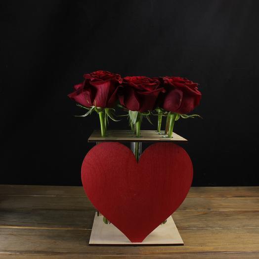"Композиция ""Для нее"" из 9 роз: букеты цветов на заказ Flowwow"