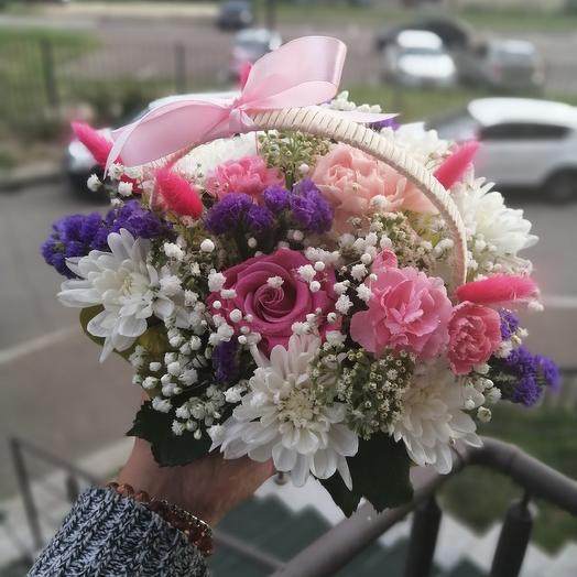 Нежная корзинка: букеты цветов на заказ Flowwow