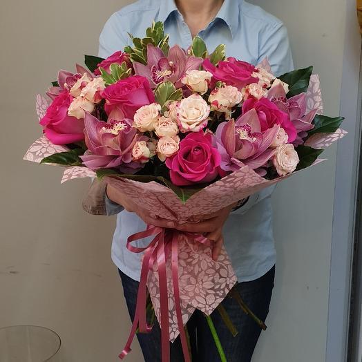 Малиновый грёзы букет: букеты цветов на заказ Flowwow