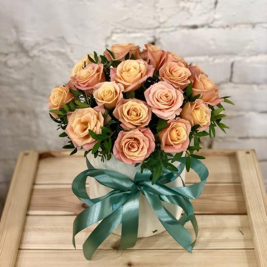 """Букет в коробке """"Жемчужина"""": букеты цветов на заказ Flowwow"""