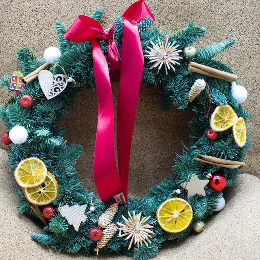 Holiday details Christmas wreath