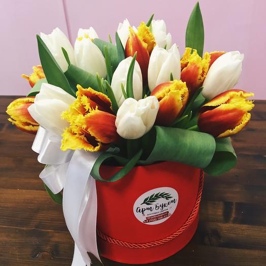 21 Тюльпан в коробке любимой