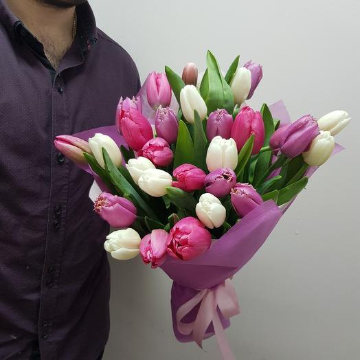 Тюльпаны 29шт: букеты цветов на заказ Flowwow