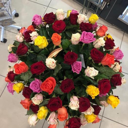 Корзина роз Торжество