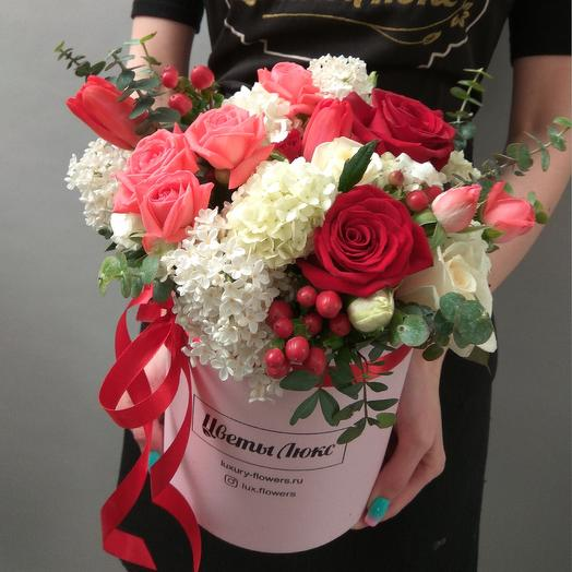 Клубничный мусс: букеты цветов на заказ Flowwow